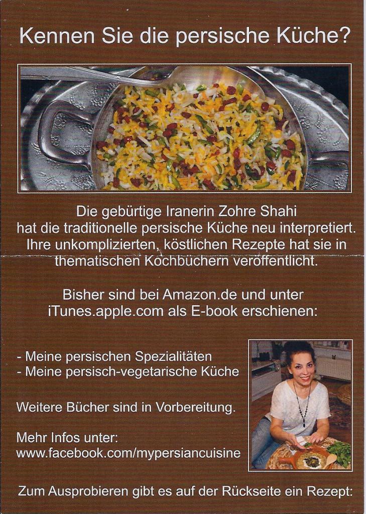Zohre Shahi -Kennen Sie persische Küche