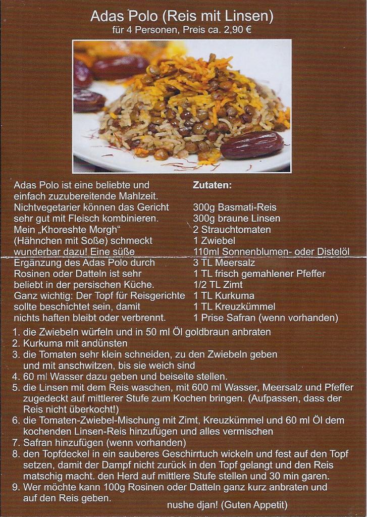 Persisches Kochrezept zum Ausprobieren