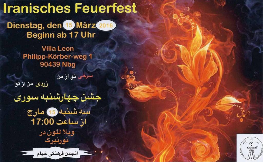 Iranisches Feuerfest 2016
