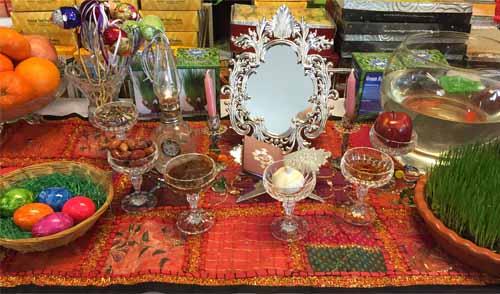 Der Nowruz-Tisch erklärt für unsere deutschen Kunden