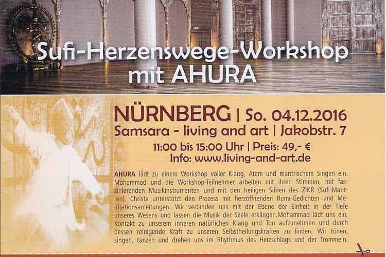 Sufi - Herzenswege Workshop im SAMSARA Omas Laden Tippx