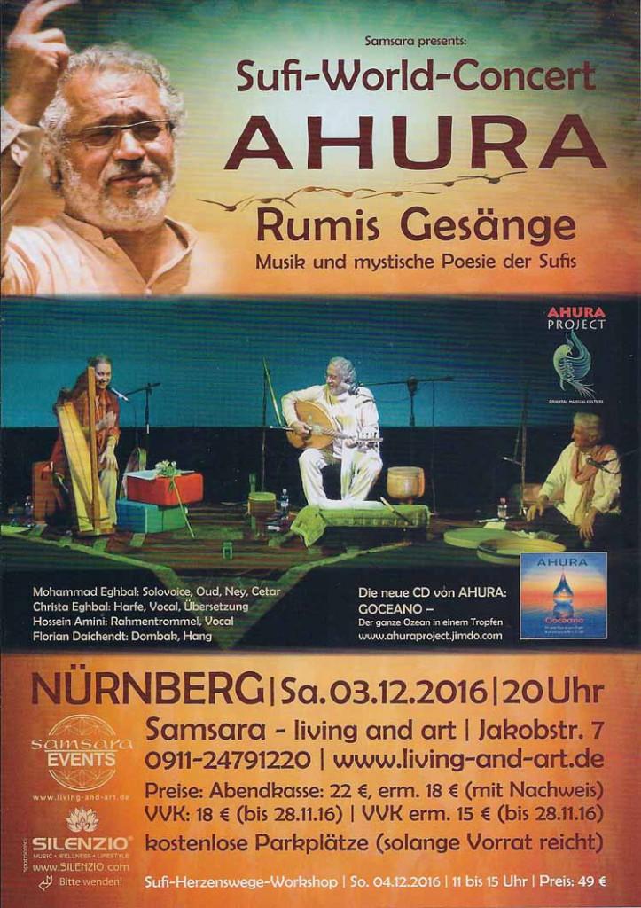 Sufi World Concert -AHURA_ im Samsara Omas Laden Tipps in Nürnberg